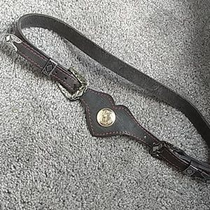 Leather black belt